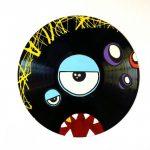 Décoration murale disque vinyle