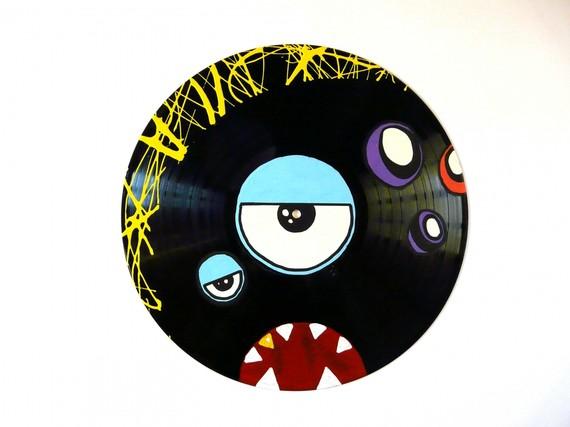 Id e d coration murale disque vinyle - Decoration disque vinyle ...