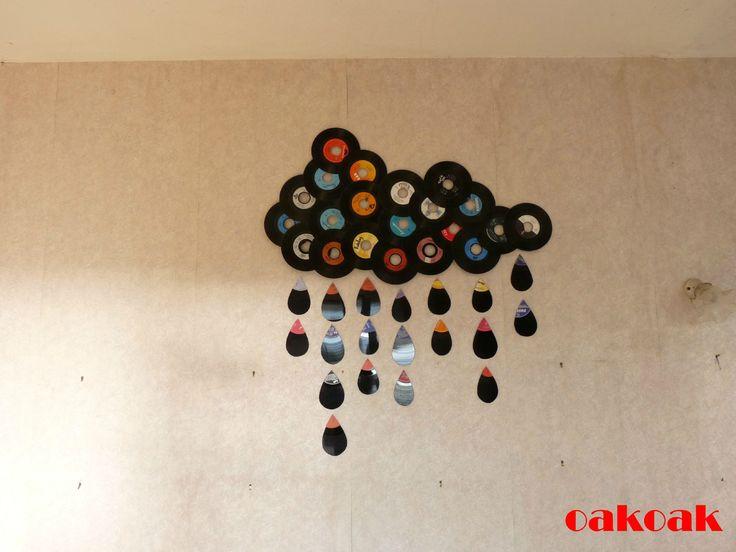 photo d coration murale disque vinyle 2. Black Bedroom Furniture Sets. Home Design Ideas