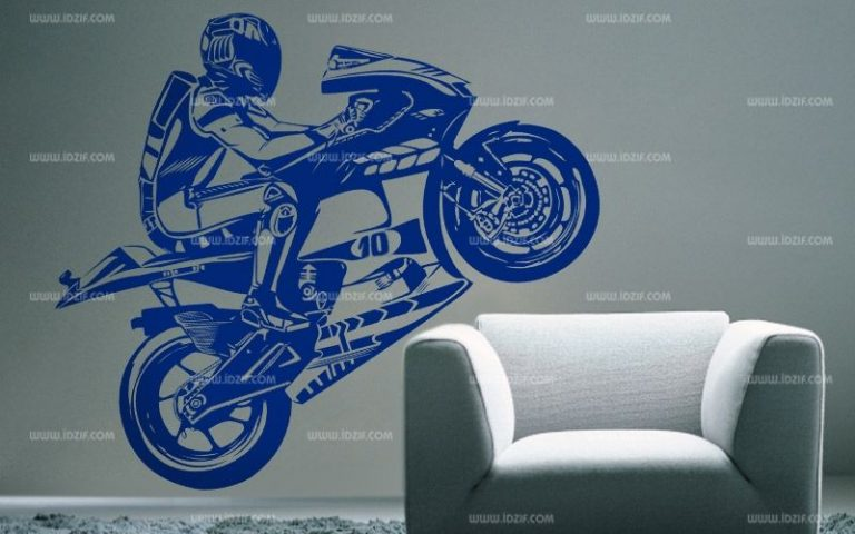 photo stickers muraux moto