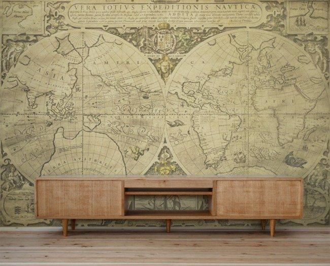 d co murale carte du monde. Black Bedroom Furniture Sets. Home Design Ideas