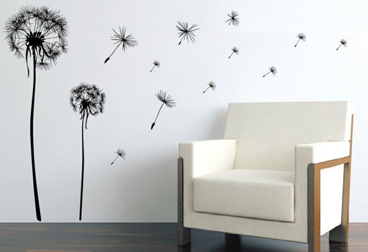 photo stickers muraux noir et blanc