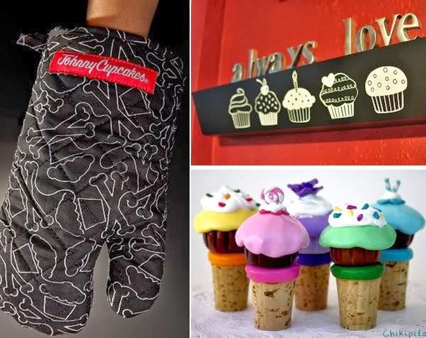 photo deco sticker cupcakes