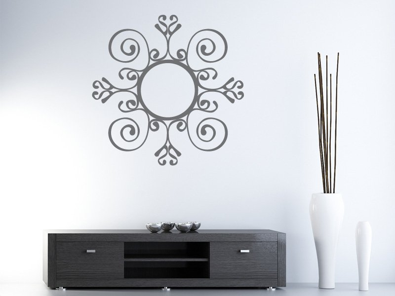 D co stickers miroir for Decoration murale miroir