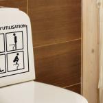 Deco stickers toilette