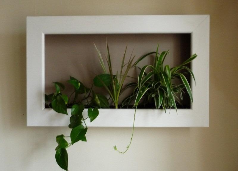 Deco Murale Plante Simple Plante Verte En Pot Rose Gold Et Ciment H
