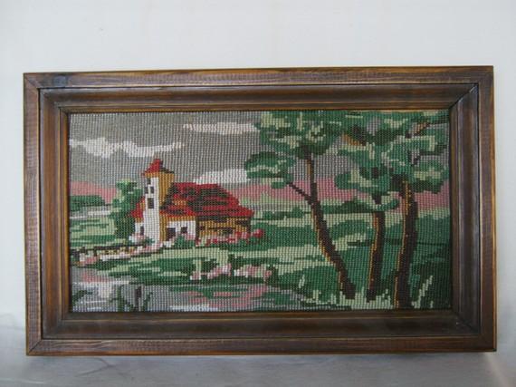 photo décoration murale tissage