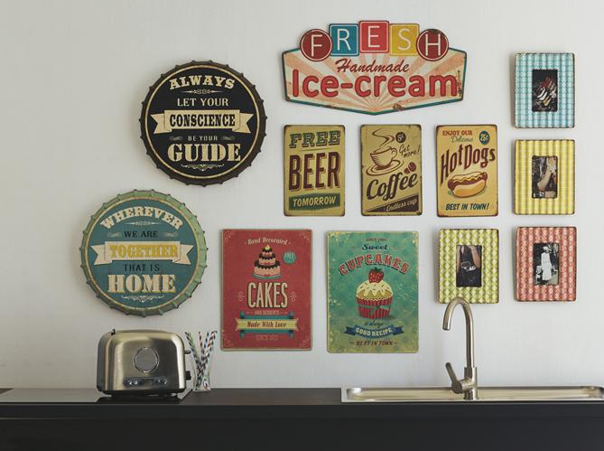 photo déco murale cuisine vintage