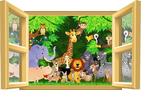photo stickers déco jungle