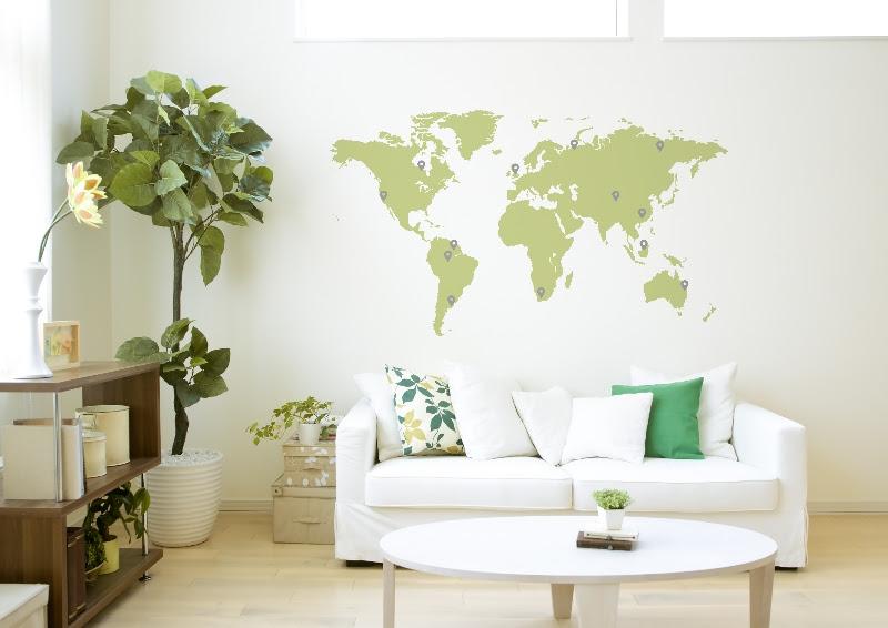 id e d co murale carte du monde. Black Bedroom Furniture Sets. Home Design Ideas