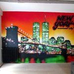 Déco murale new york couleur