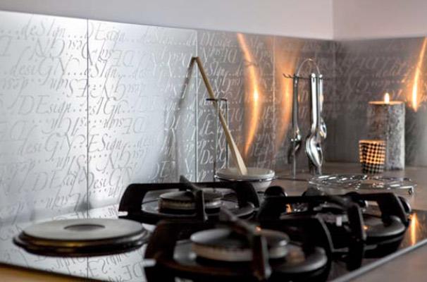 D coration murale adh sive cuisine for Deco murale zinc