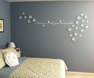 Décoration murale fleur 3d