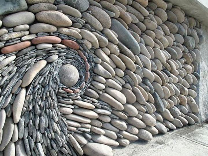 idée décoration murale pierre