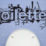 Sticker deco toilette