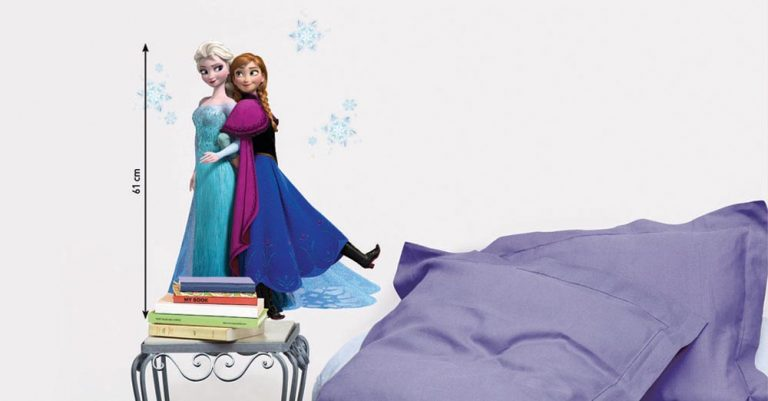 photo stickers muraux la reine des neiges
