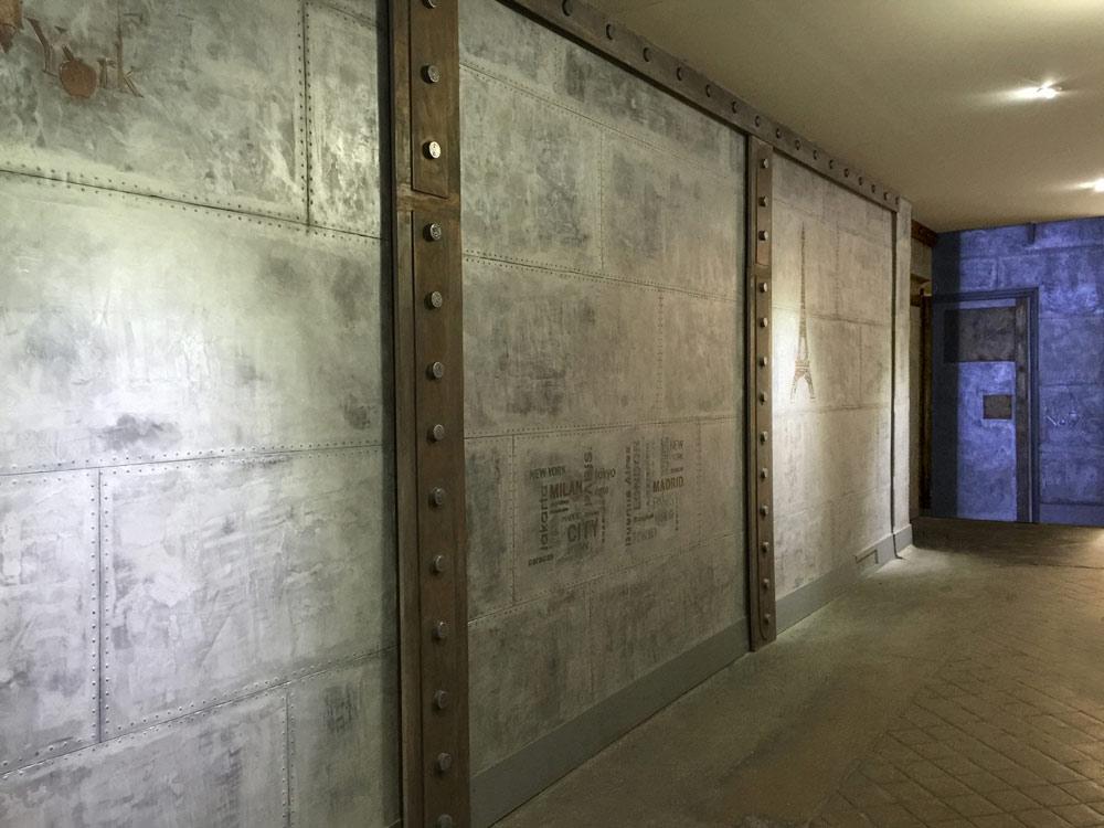 photo d coration murale industrielle 2. Black Bedroom Furniture Sets. Home Design Ideas