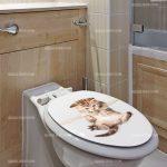 Sticker deco toilette