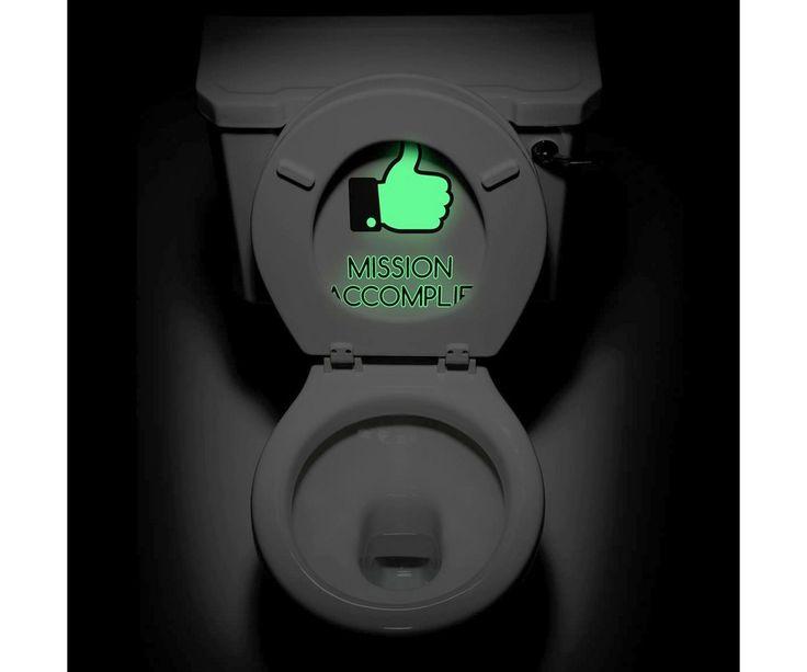 photo sticker deco toilette