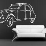 Stickers muraux 2cv