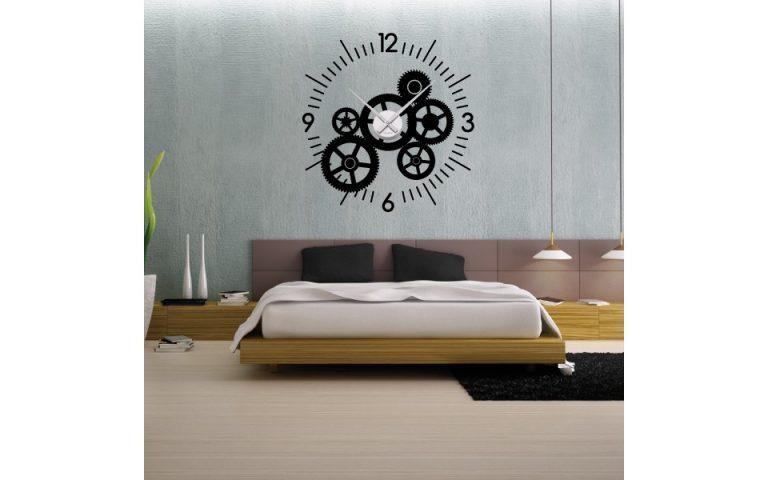 photo stickers muraux horloge