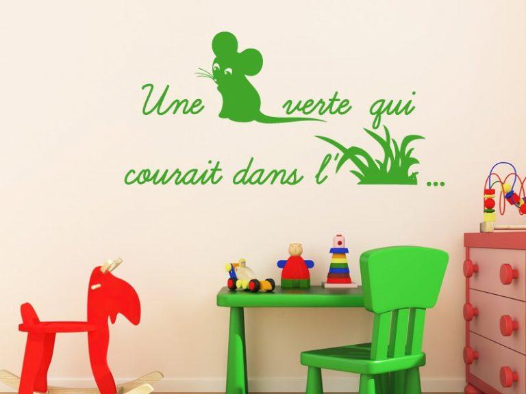 photo stickers muraux une souris verte