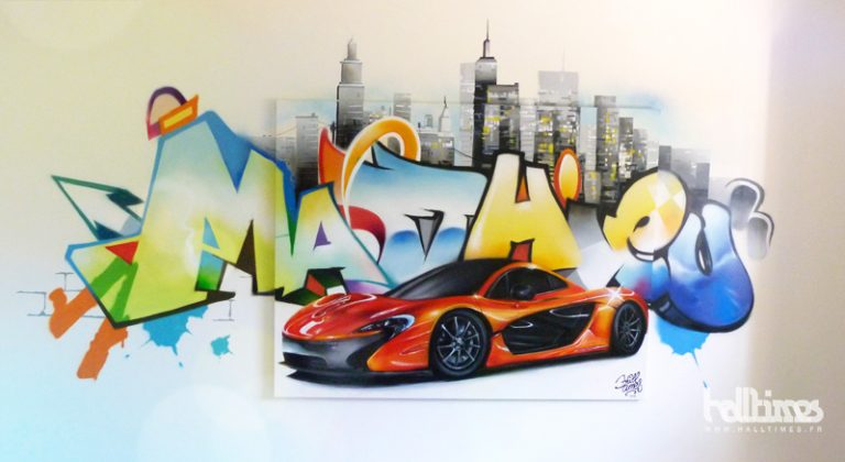 photo déco murale graffiti