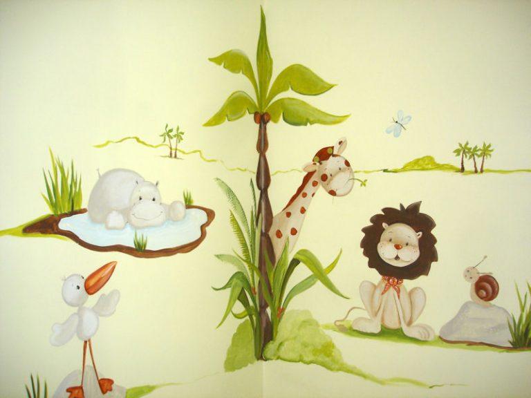 photo décoration murale garderie