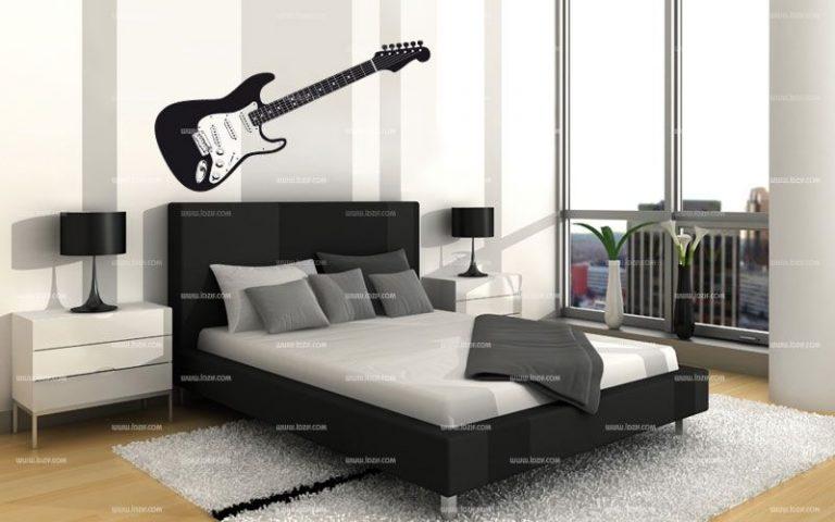 photo stickers deco guitare électrique