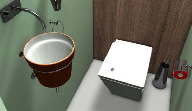 photo déco murale toilettes