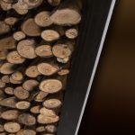 Décoration murale rondin de bois