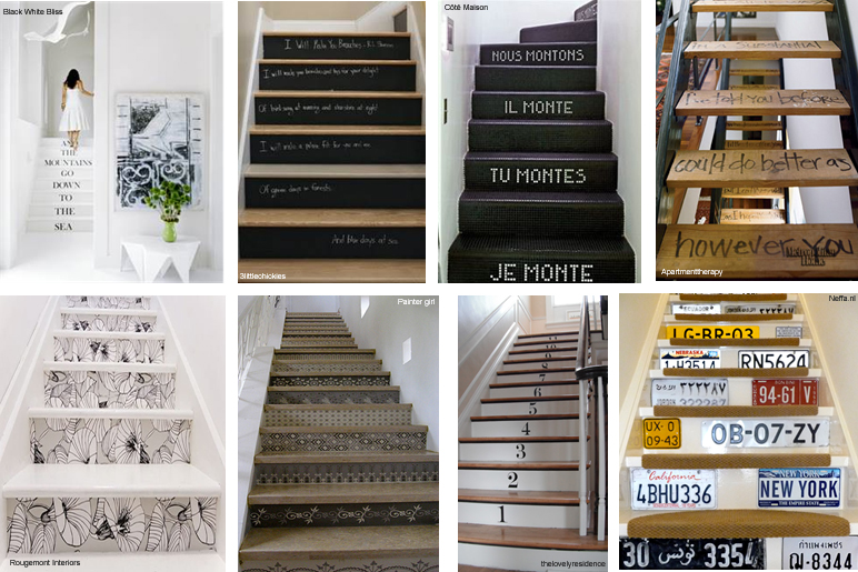 idée sticker deco escalier