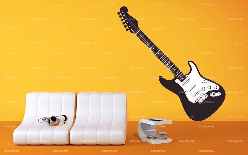 Stickers deco guitare lectrique for Decoration murale guitare