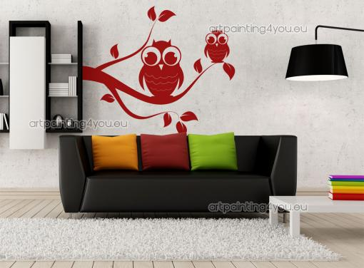 photo stickers muraux hiboux