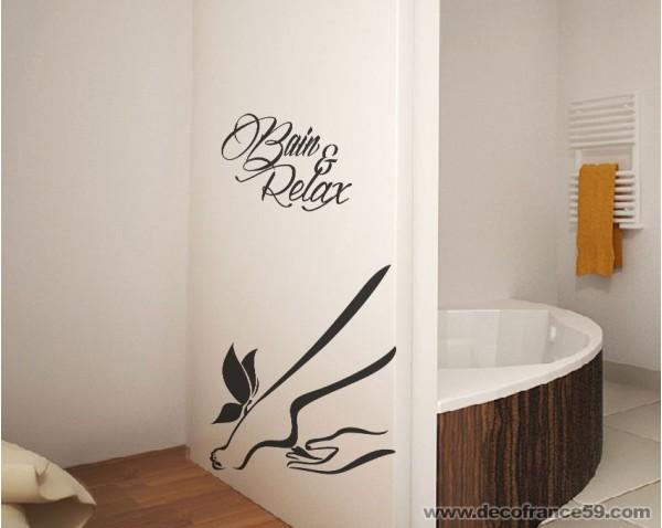 photo stickers muraux salle de bain