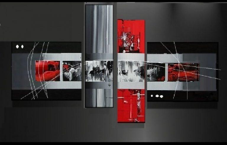 photo déco murale rouge et gris