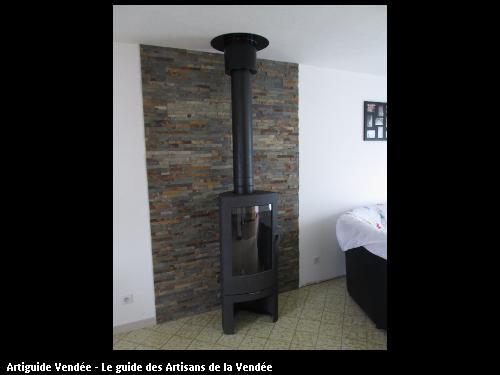 Photo Décoration Murale Derriere Poele Bois 3