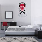 Stickers muraux tete de mort