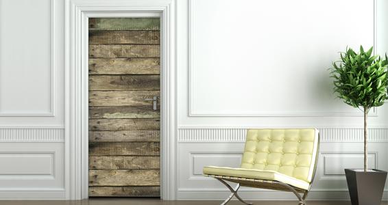 photo stickers muraux imitation bois