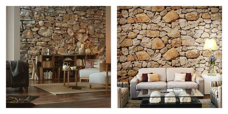 photo stickers muraux imitation pierre