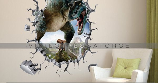 photo stickers muraux jurassic park