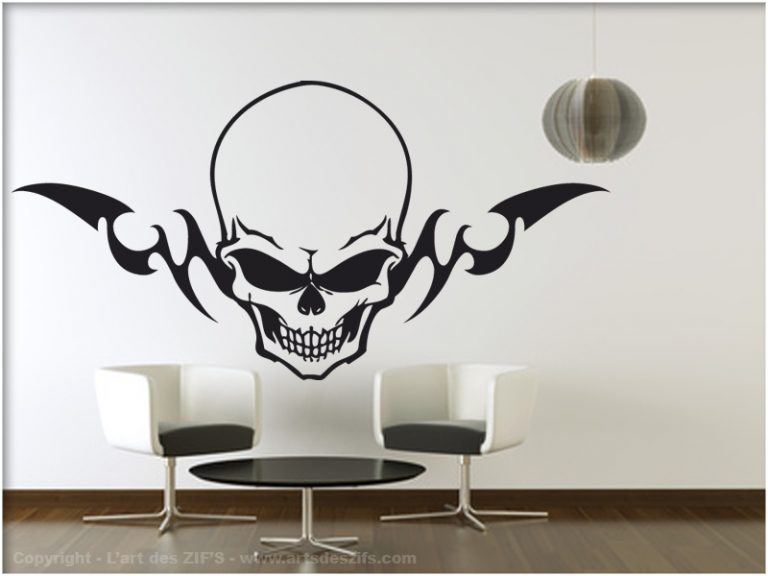 photo stickers muraux tete de mort