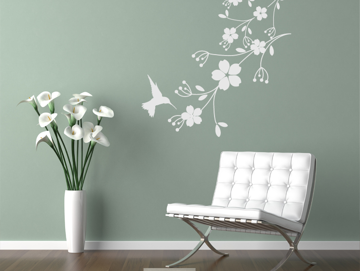 photo stickers muraux fleurs