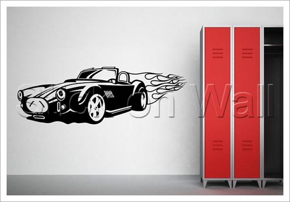 photo stickers muraux voiture de course
