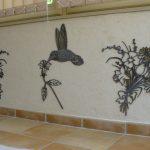Déco murale fer forge exterieure