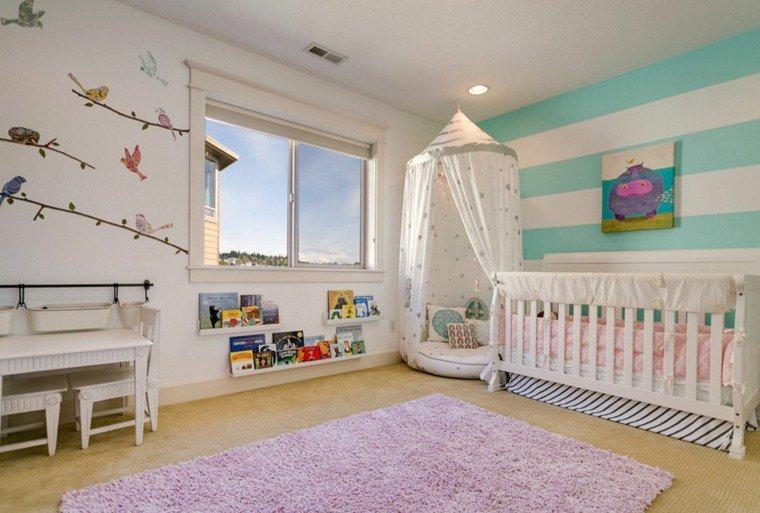 photo idée déco stickers chambre bébé