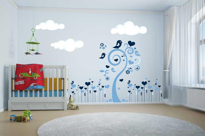 Idée déco stickers chambre bébé