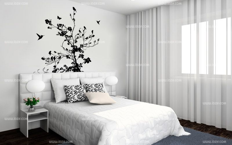 sticker deco tete de lit. Black Bedroom Furniture Sets. Home Design Ideas