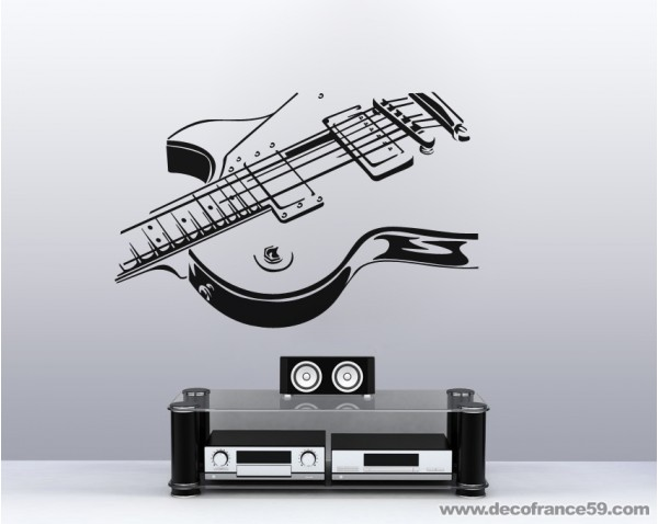 Sticker deco guitare