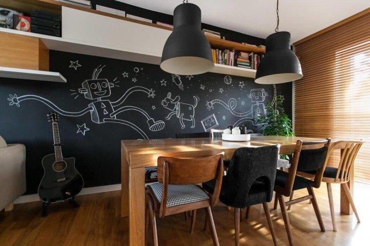 photo déco murale salle à manger
